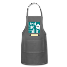 Load image into Gallery viewer, Desi Me Rollin' - Adjustable Apron - charcoal