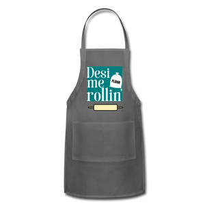 Desi Me Rollin' - Adjustable Apron - charcoal