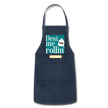 Load image into Gallery viewer, Desi Me Rollin' - Adjustable Apron - navy