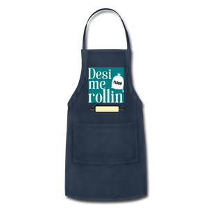 Desi Me Rollin' - Adjustable Apron - navy