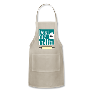 Desi Me Rollin' - Adjustable Apron - natural