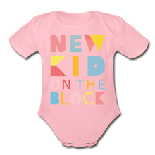 Load image into Gallery viewer, New Kid On The Block - Organic Short Sleeve Baby Bodysuit - light pink