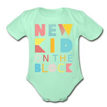 Load image into Gallery viewer, New Kid On The Block - Organic Short Sleeve Baby Bodysuit - light mint