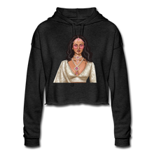 Load image into Gallery viewer, Sabyasachi Taste on a Forever 21 Budget - Women's Cropped Hoodie - deep heather