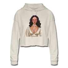 Load image into Gallery viewer, Sabyasachi Taste on a Forever 21 Budget - Women's Cropped Hoodie - dust