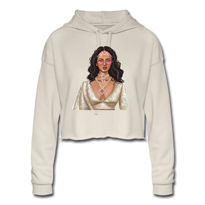 Sabyasachi Taste on a Forever 21 Budget - Women's Cropped Hoodie - dust