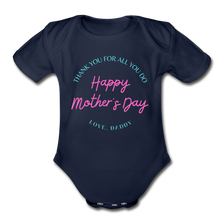 Load image into Gallery viewer, Happy Mother's Day, Love Daddy - Baby Onesie - dark navy