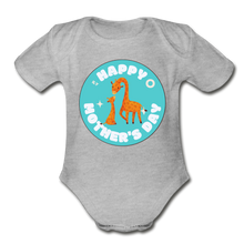 Load image into Gallery viewer, Happy Mother's Day-  Baby Onesie - heather gray