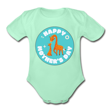 Load image into Gallery viewer, Happy Mother's Day-  Baby Onesie - light mint