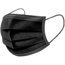 Load image into Gallery viewer, 3-Ply Black Disposable Non Medical Masks For Adults (Pack of 50)