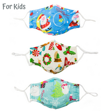 Load image into Gallery viewer, Kids / children 100% Cotton Cloth Mask with PM2.5 Filter (Pack of 3)