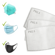 Load image into Gallery viewer, Replaceable PM2.5 Filter For Face Masks(Pack of 20)