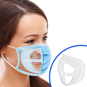 3D Mask Bracket For Comfortable Breathing and Makeup Saving (Pack of 5)
