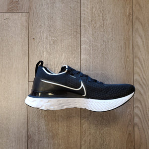 Nike Women's React Infinity Run FlyKnit - Black/Dark Grey/White