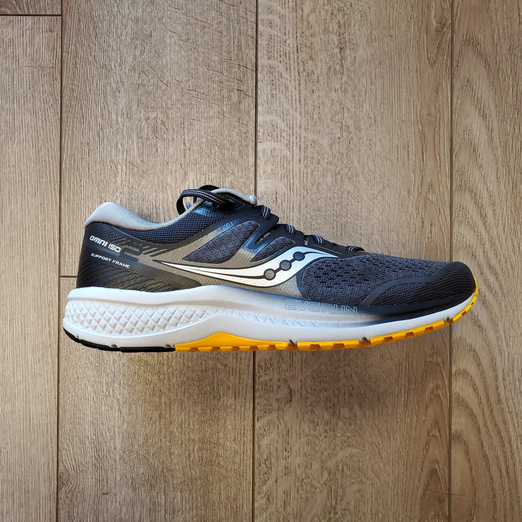 Saucony Men's Omni ISO 2 - Grey/Black/Yellow