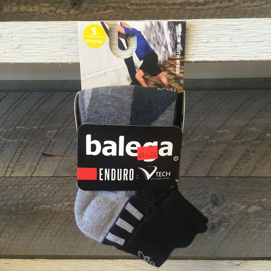 Balega Enduro Quarter Running Socks - Black/Charcoal