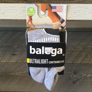 Balega Ultralight No Show Running Socks - Grey/White