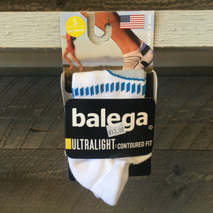 Balega Ultralight No Show Running Socks - White/French Blue