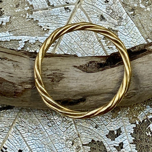 18k Gold Twisted Ring
