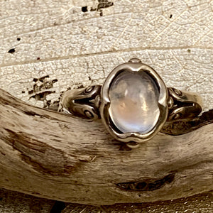 Oval Blue Moonstone Ring