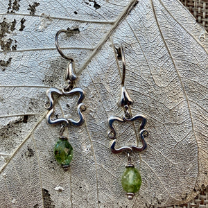Green Tourmaline Flourish Earrings