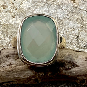 Faceted Chalcedony Ring