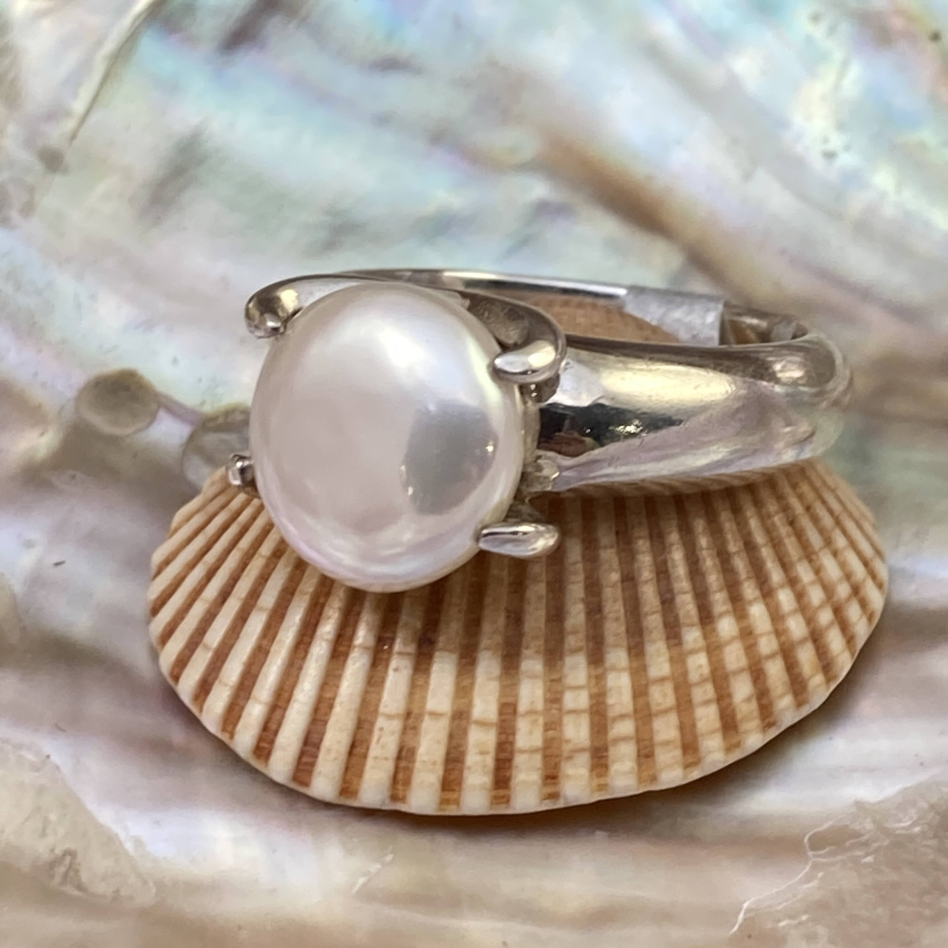 Freshwater Coin Pearl Ring