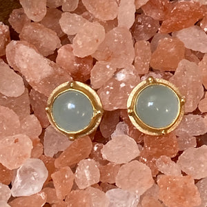 14k & 22k Gold Aquamarine Earrings