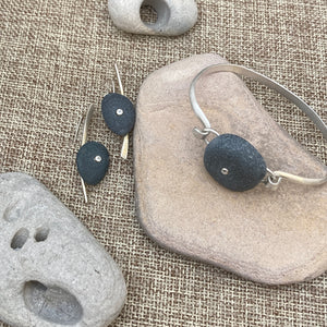 Pebble Bracelet & Earrings with Topaz