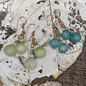 Prehnite or Aqua Chalcedony Earrings