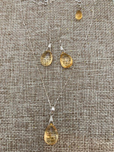 Citrine Necklace & Earrings
