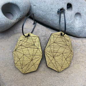 Elongated Octagonal Earrings