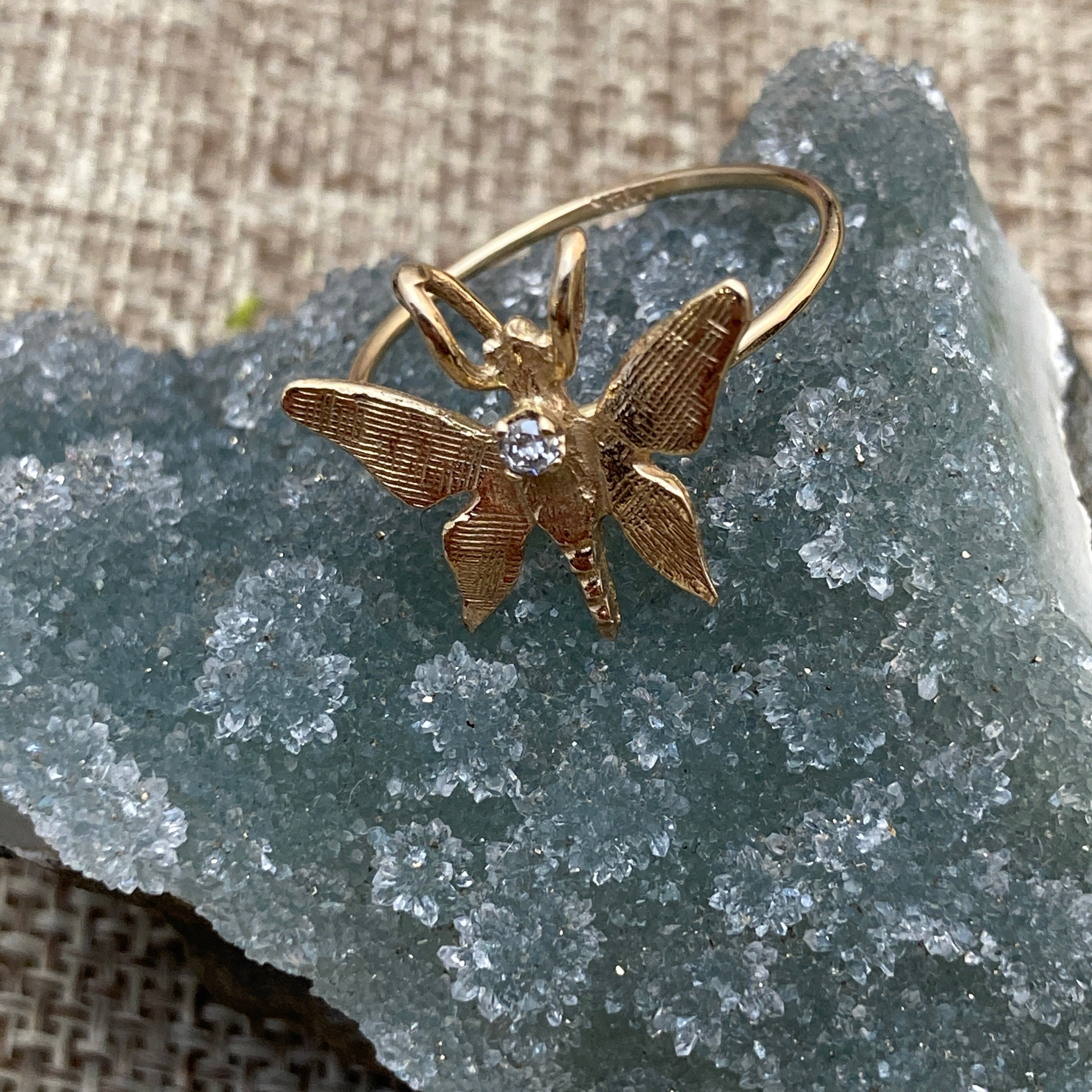 12k Gold Victorian Butterfly Ring