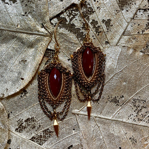 Chrysocolla or Red Jasper Earrings