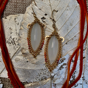 Rainbow Moonstone Necklace & Earrings
