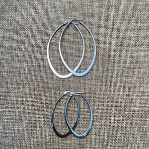 Stainless Steel Oval Hoops