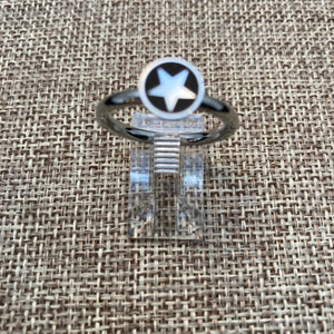 Star Enamel & Stainless Steel Ring