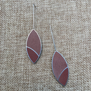 Marquise Drop Concrete Earrings