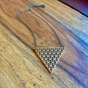 Gold Triangle Darrowing Necklace