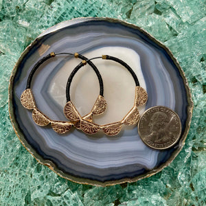 Leather & Linen Hoops