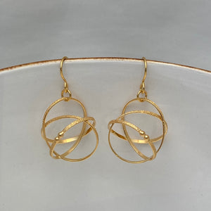 Small Gold Vermeil Mobius Earrings