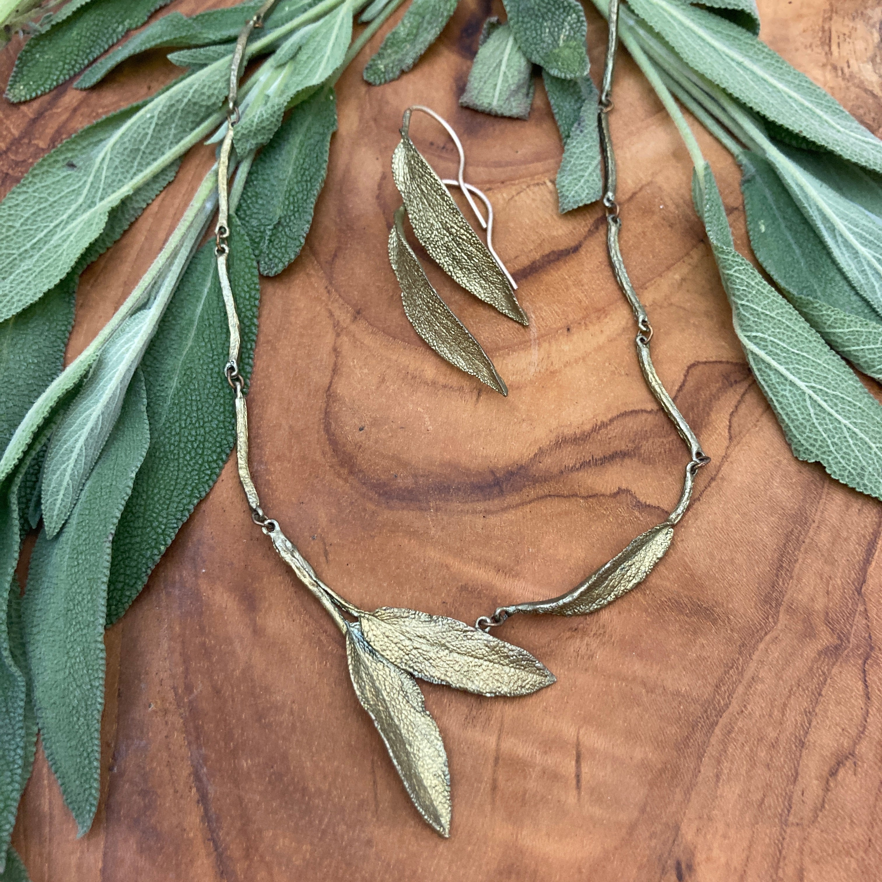 Sage Necklace & Earrings