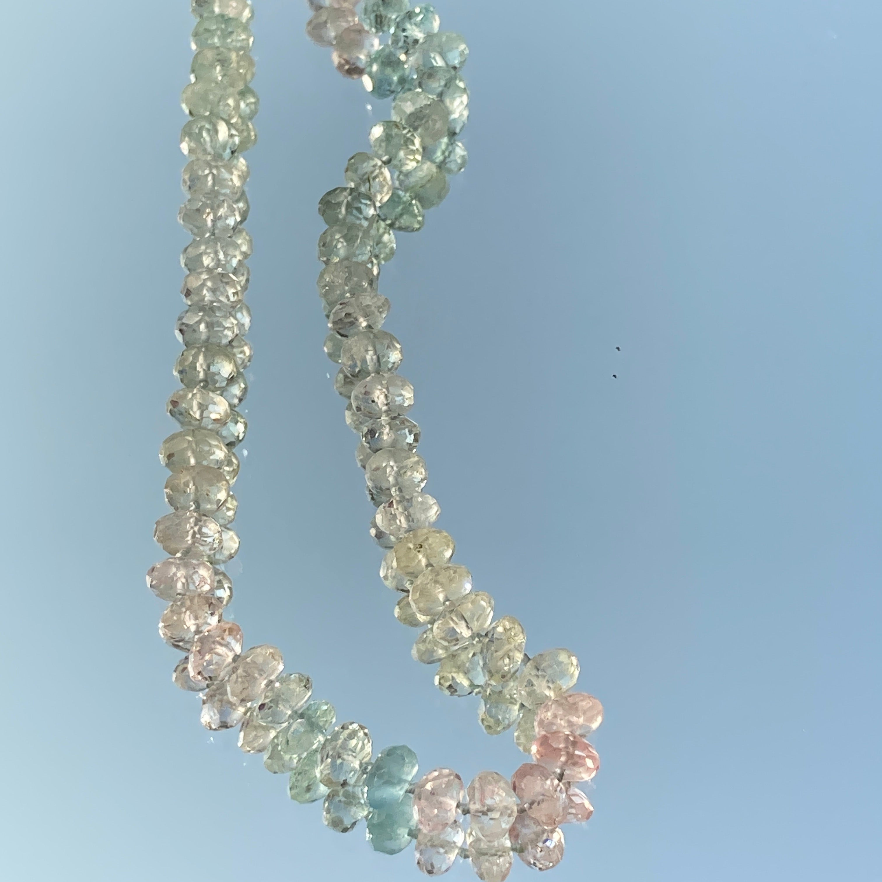 Aquamarine Continuous Strand Necklace