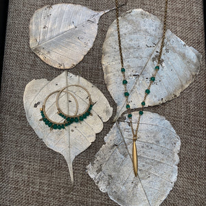 Green Onyx Necklace & Earrings