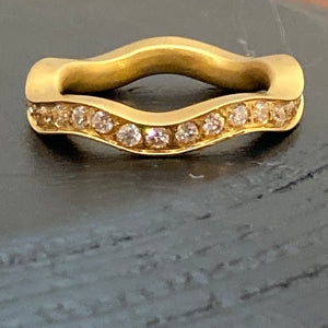 Gold Plated Cubic Zirconium Steel Rings