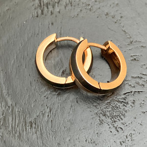 Wood & Gold Plated Steel Hoops