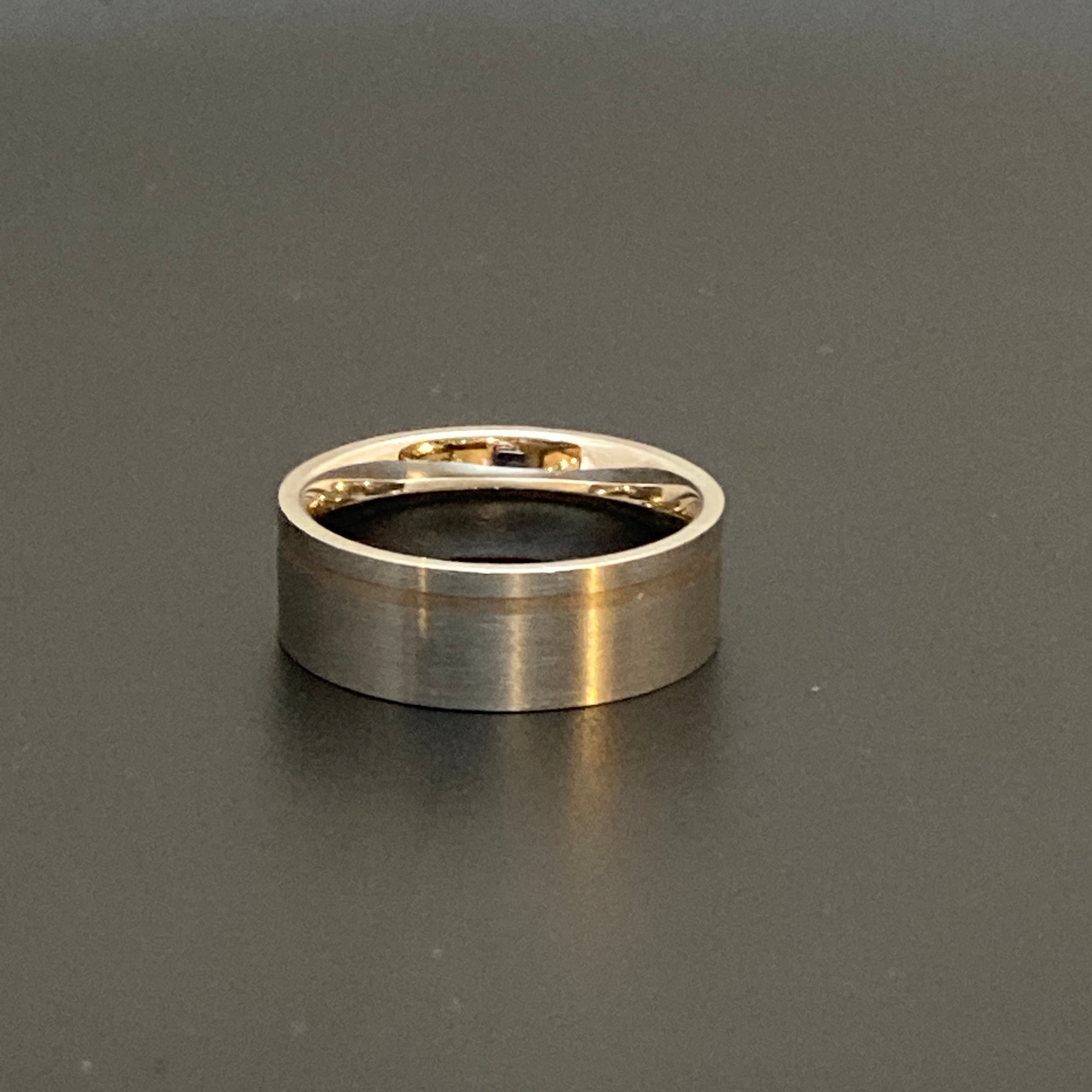 Steel & 18k Gold Band
