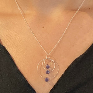 Iolite Necklace & Earrings in Sterling Silver