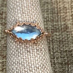 Blue Topaz 14k Rose Gold Ring