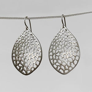 Large Lacy Leaf Earrings